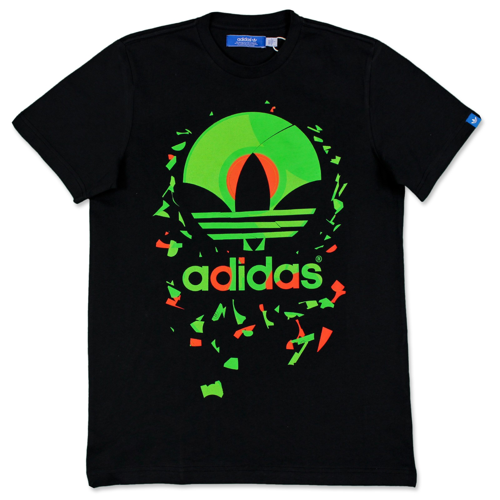 Adidas originals trefoil tee herren freizeit kult t shirt for Adidas long sleeve t shirt with trefoil logo