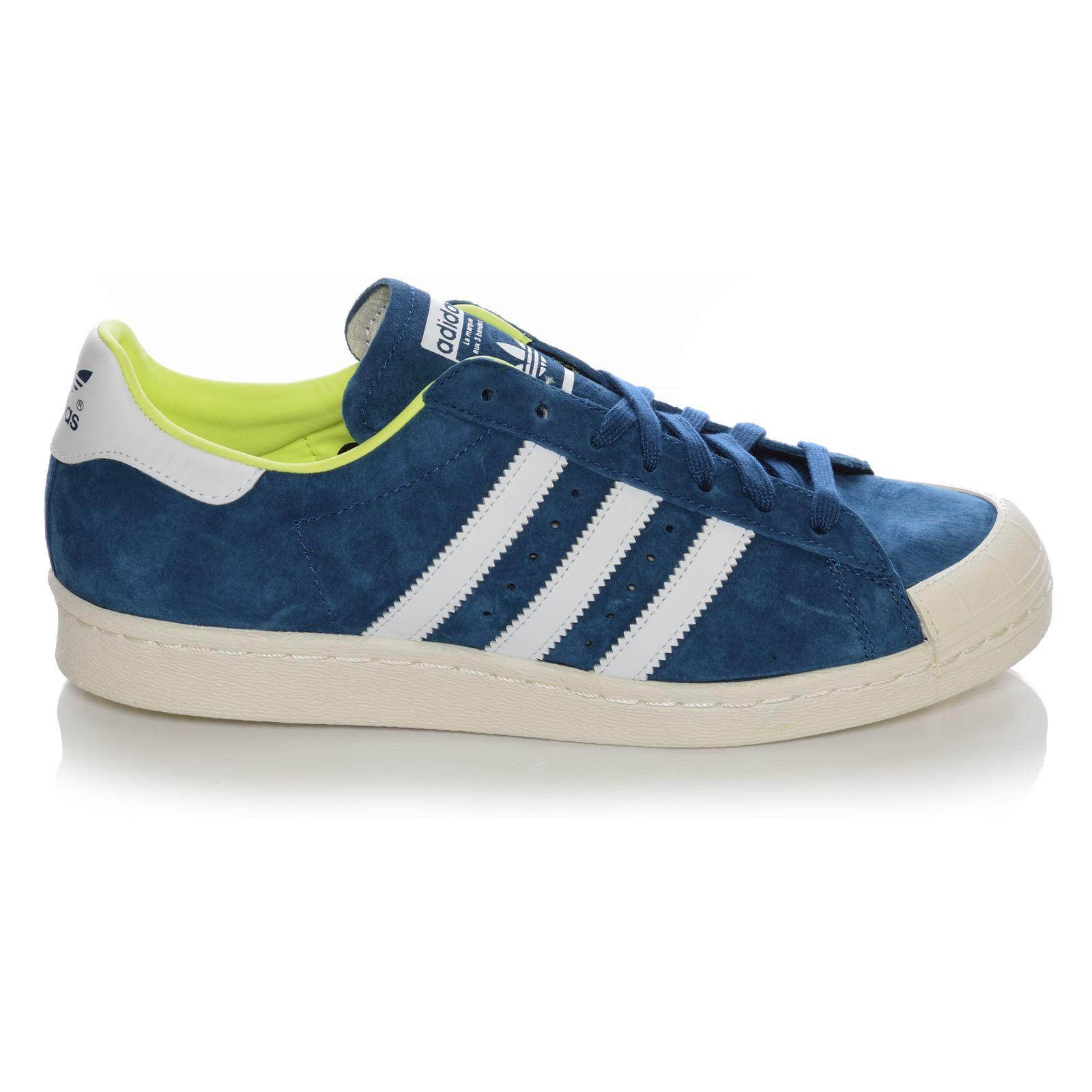adidas originals superstar 80s halfshell shoes leather sneakers blue 36 2 3 ebay. Black Bedroom Furniture Sets. Home Design Ideas