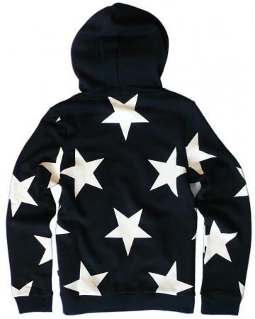 adidas originals cs star hoodie kapuzenpullover schwarz weiss sterne 32 40 ebay. Black Bedroom Furniture Sets. Home Design Ideas