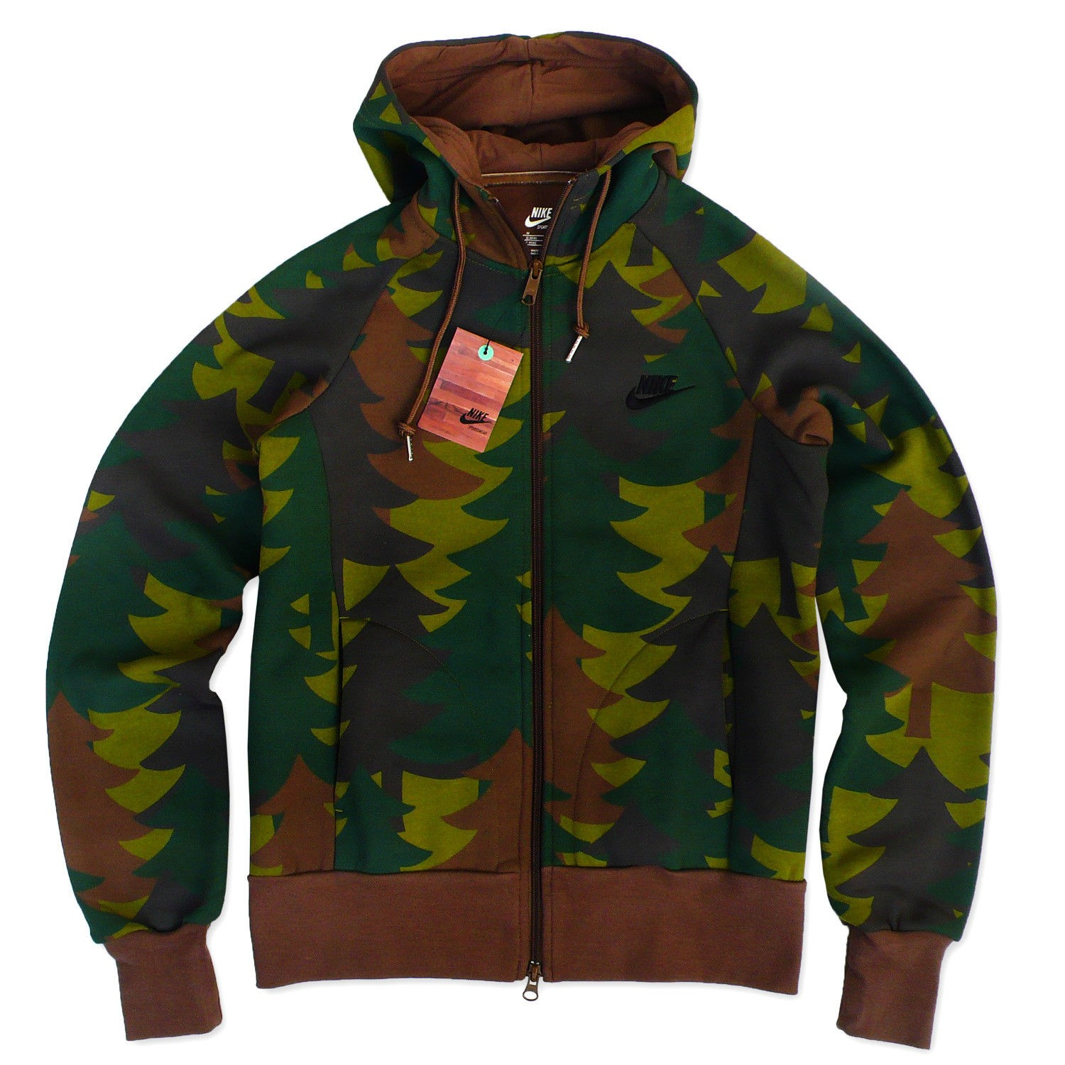 nike aw77 camo jacke damen full zip hoodie camouflage. Black Bedroom Furniture Sets. Home Design Ideas