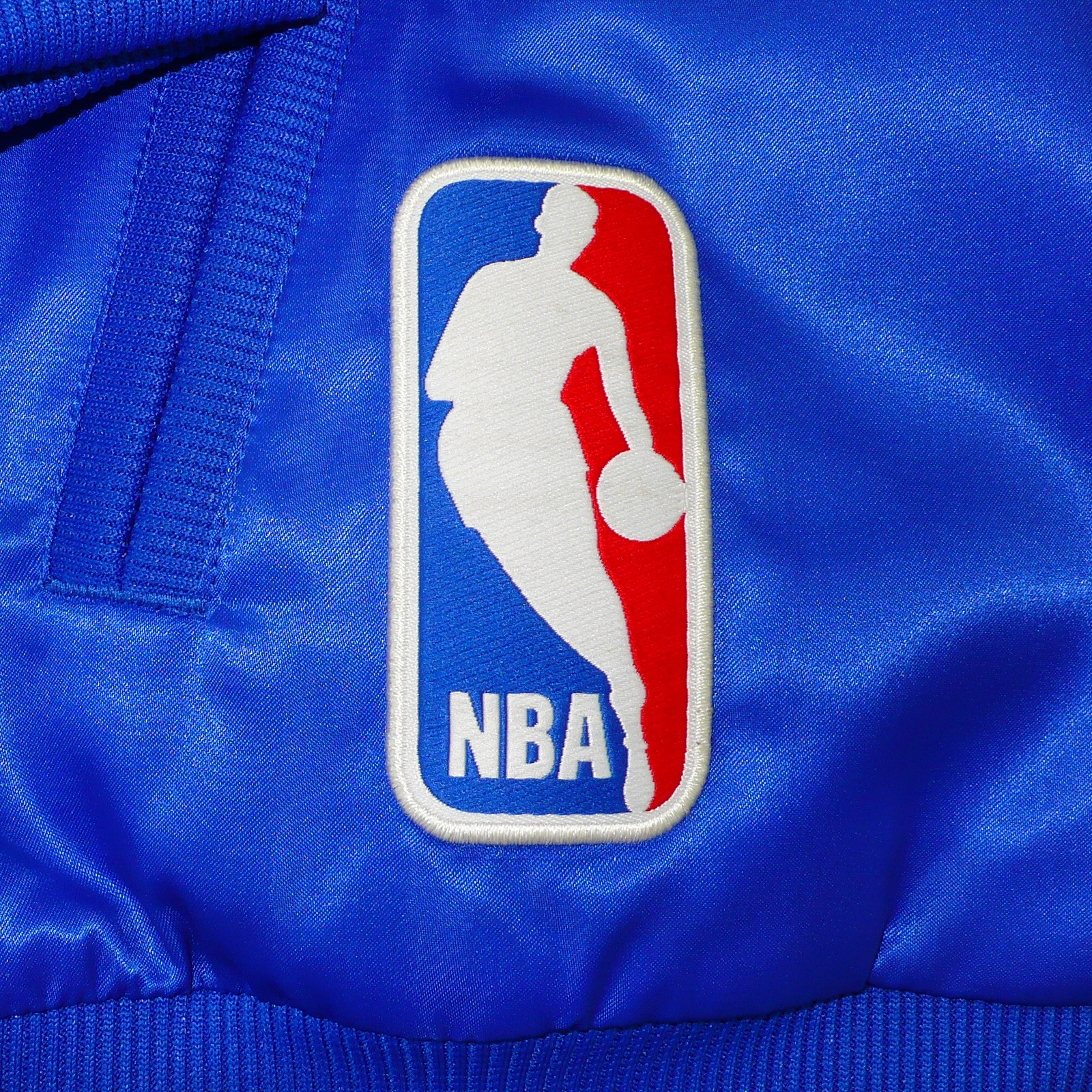 Adidas Denver Nuggets 3 Stripe Jacket: ADIDAS ORIGINALS NBA DENVER NUGGETS MEN'S JACKET PADDED BLUE
