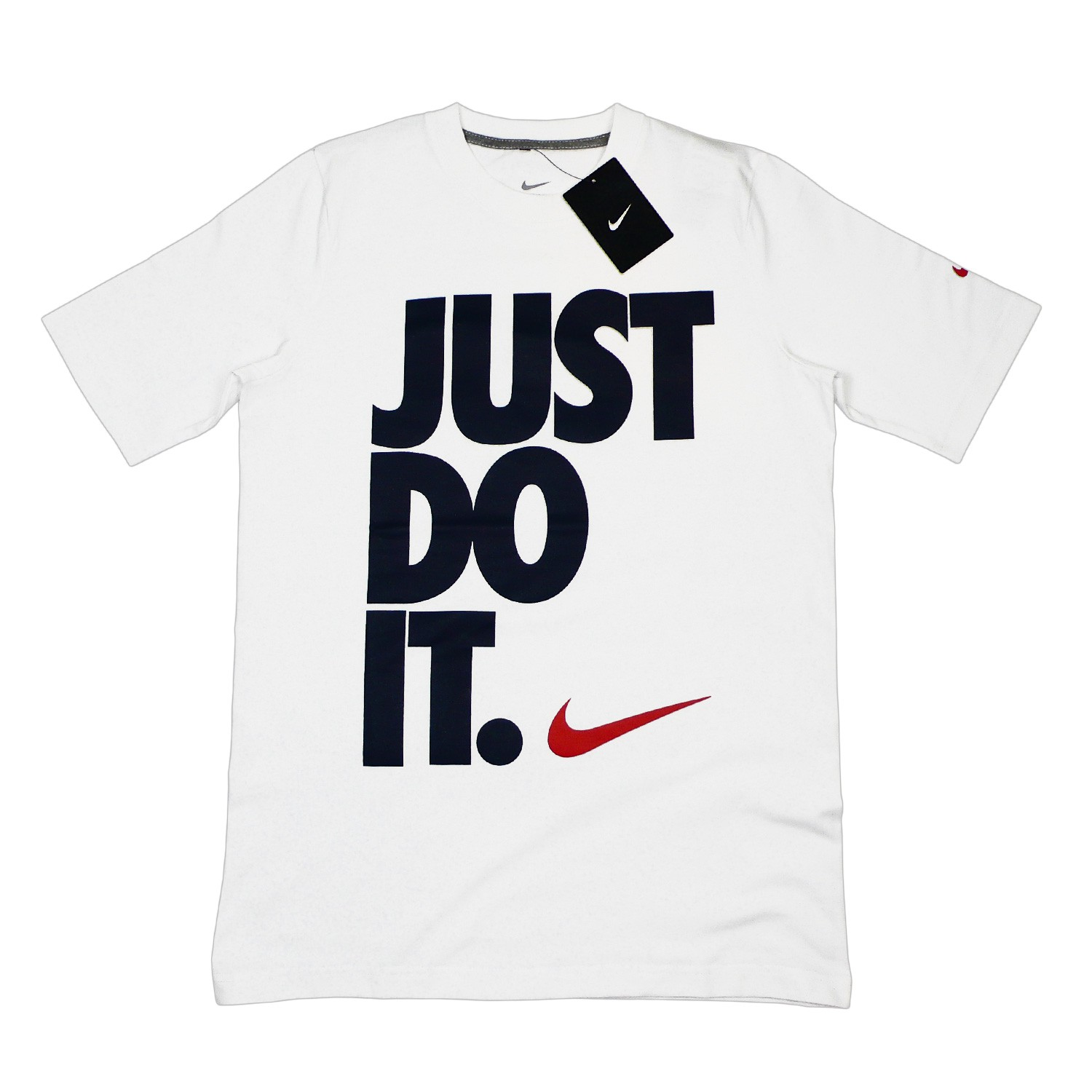 nike just do it t shirt men 39 s t shirt white black retro slim fit s xl. Black Bedroom Furniture Sets. Home Design Ideas
