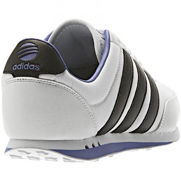 adidas neo label v racer nylon w damen sneaker lifestyle schuhe weiss schwarz ebay. Black Bedroom Furniture Sets. Home Design Ideas