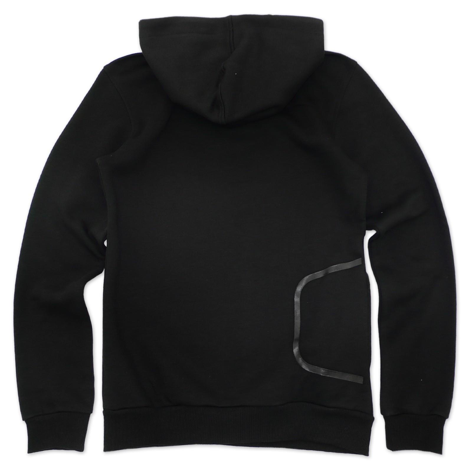 adidas originals herren trefoil hoodie kapuzenpullover schwarz grau xs. Black Bedroom Furniture Sets. Home Design Ideas