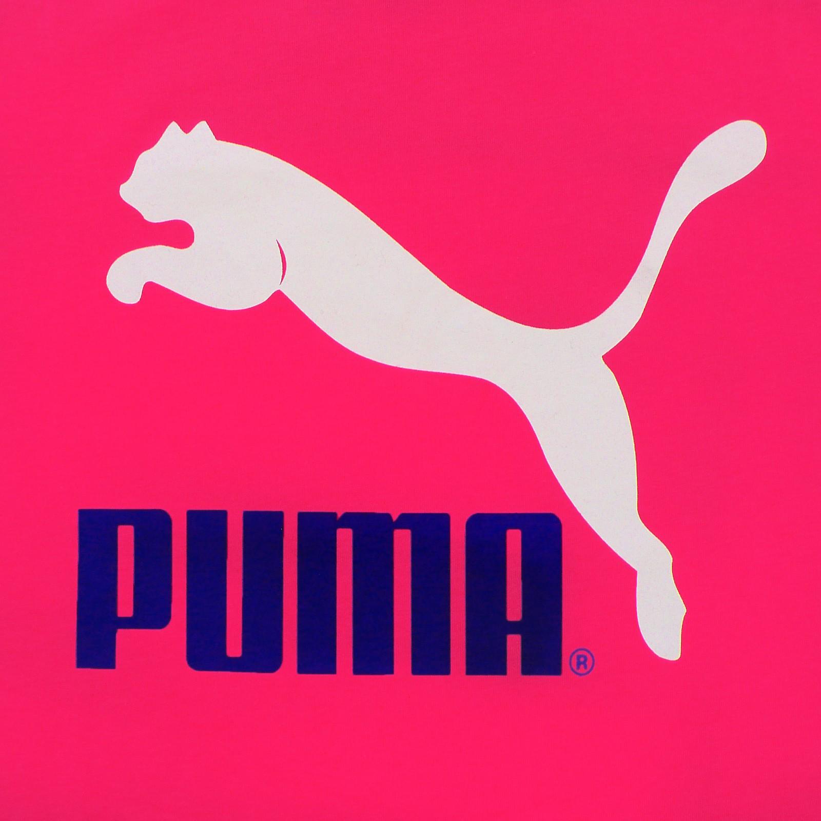 Puma originals large logo no 1 t shirt men 39 s t shirt pink leisure sports s xxl ebay - Puma logo pictures ...