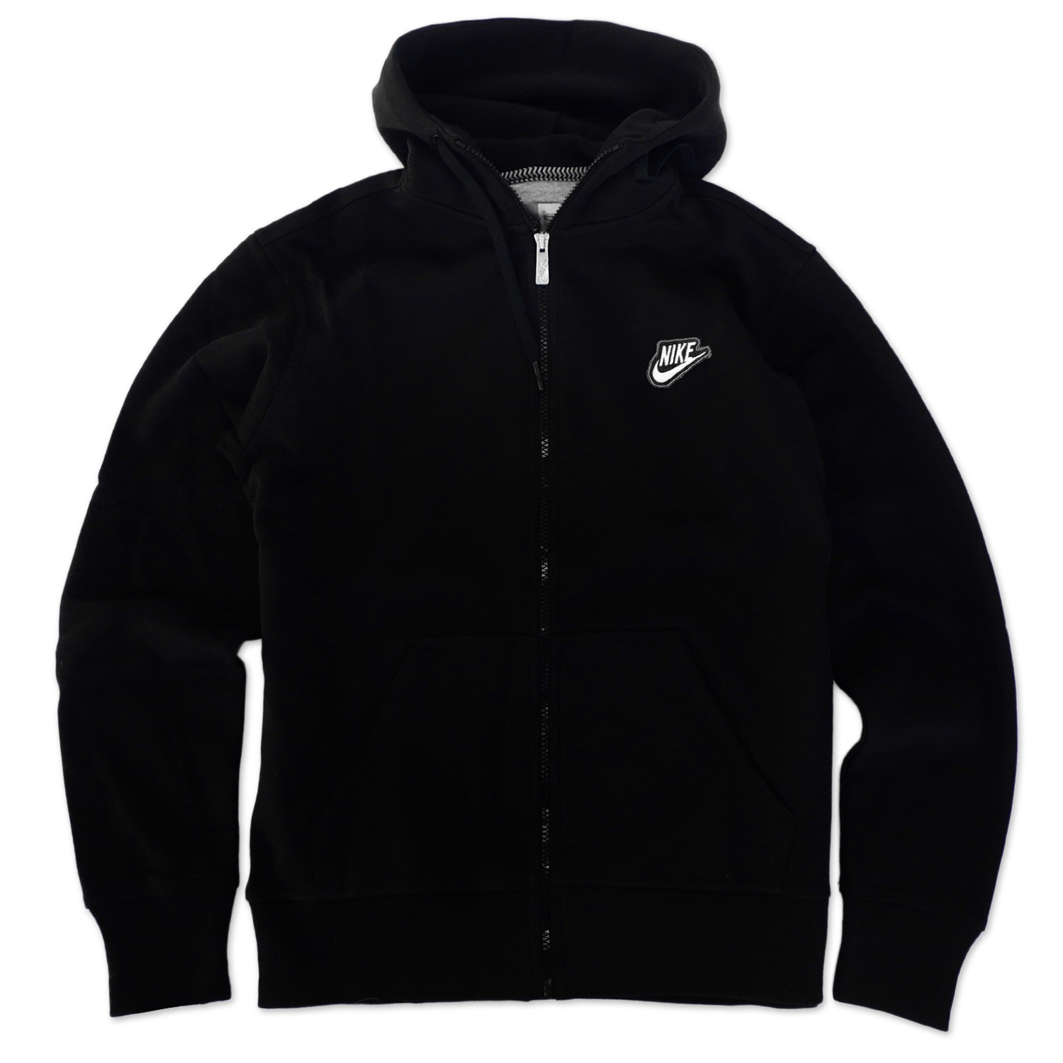 nike swoosh hoodie fleece hooded jacket hoody hoody sweatshirt black s xl ebay. Black Bedroom Furniture Sets. Home Design Ideas