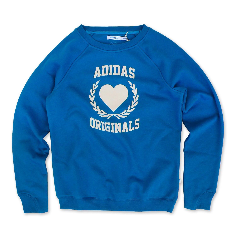 adidas originals college sweater damen retro sweatshirt pullover herz. Black Bedroom Furniture Sets. Home Design Ideas