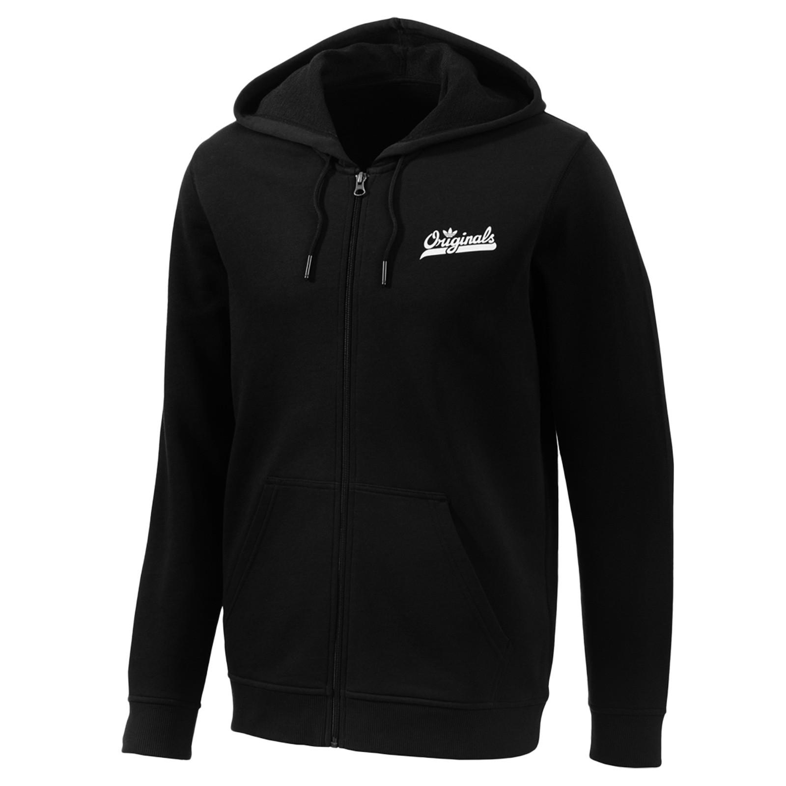 adidas originals graphic crew trefoil jacke sweatshirt hoodie pullover schwarz jungs trainingsjacken. Black Bedroom Furniture Sets. Home Design Ideas