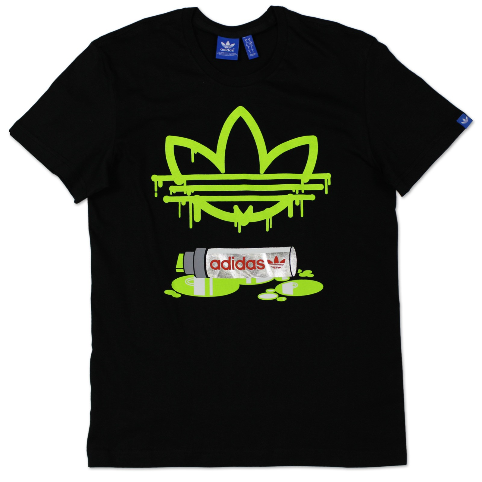 Adidas originals adi trefoil marker tee herren t shirt for Adidas long sleeve t shirt with trefoil logo