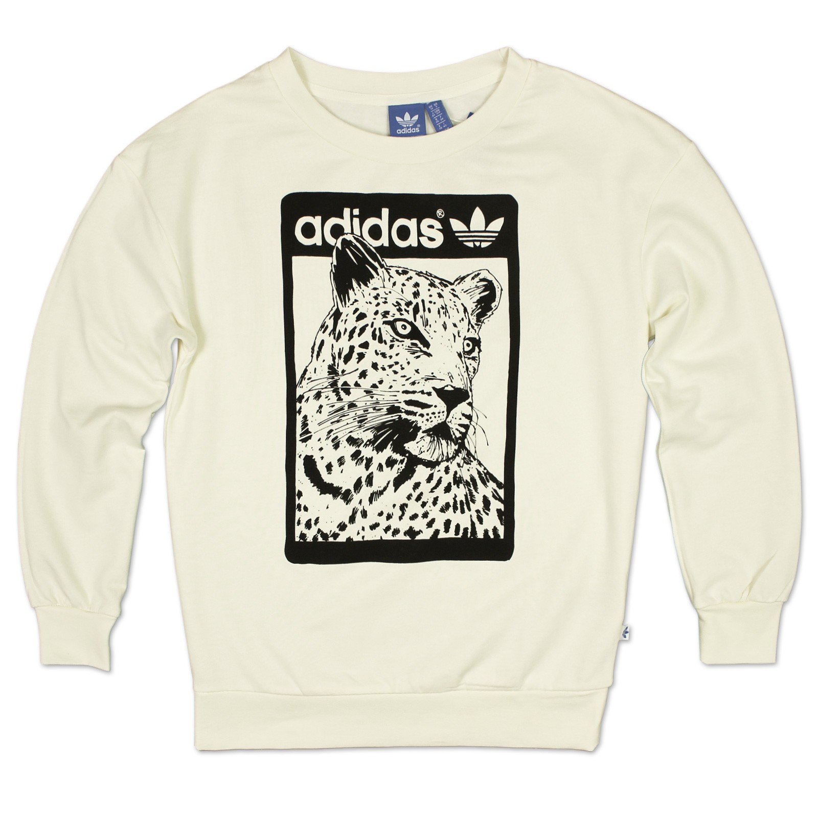 adidas originals women lion crew sweater trefoil sweatshirt pullover leopard 8 ebay. Black Bedroom Furniture Sets. Home Design Ideas
