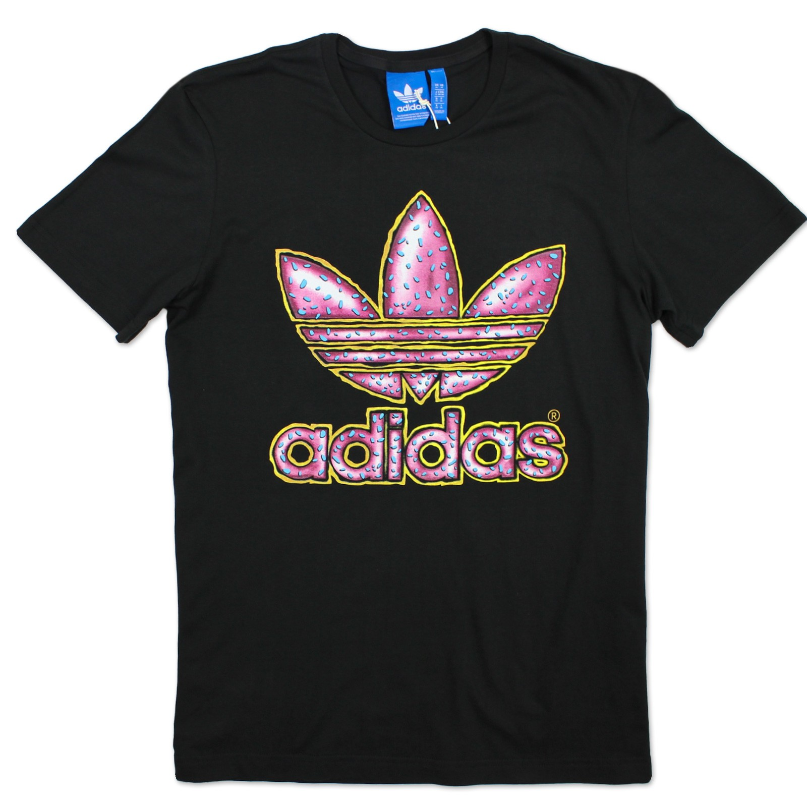 Adidas originals graphic trefoil donut t shirt men 39 s for Adidas lotus t shirt