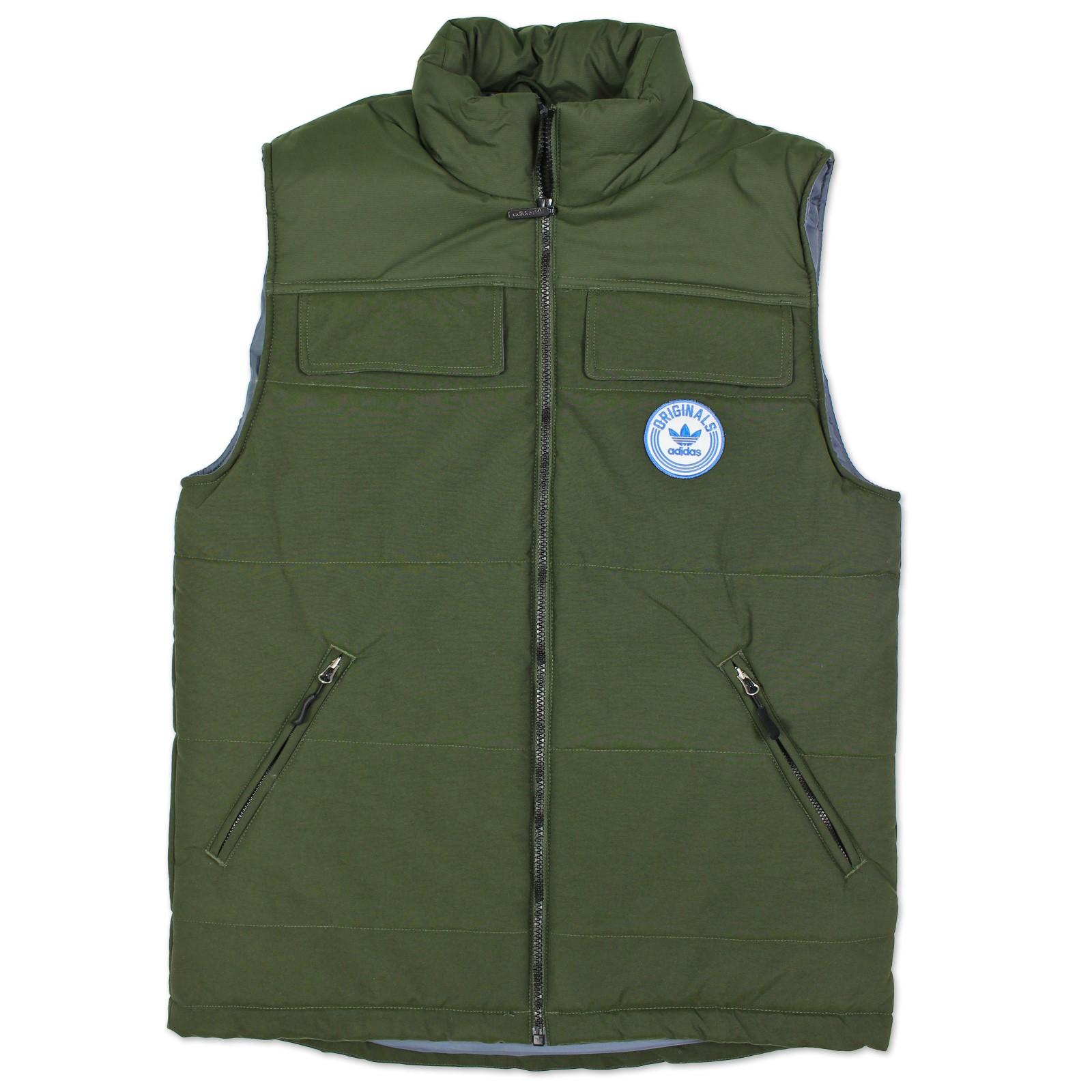 adidas Originals Mens Winter Vest Down Vest Trefoil Jacket