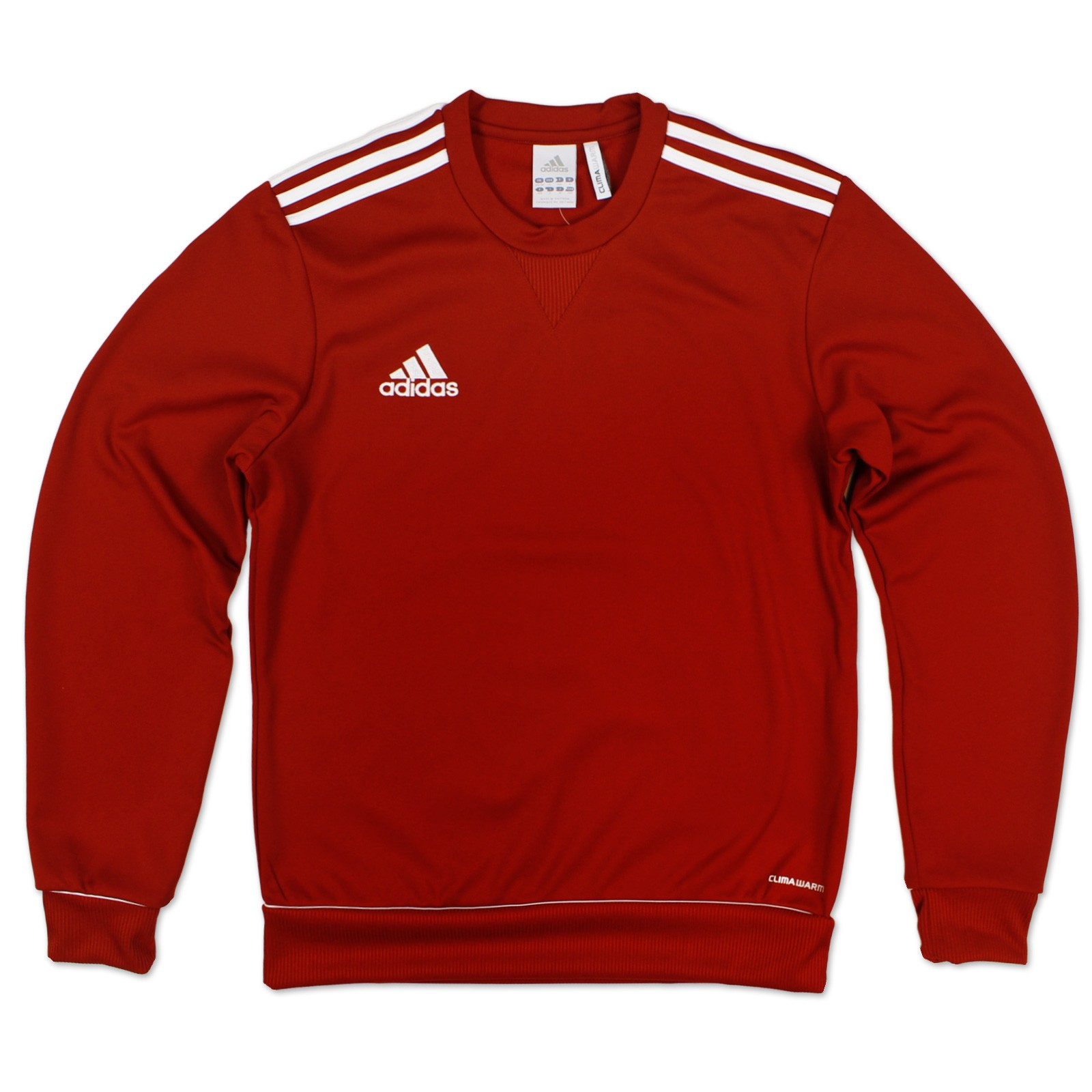 adidas performance herren ess 3 s swt top sweatshirt sweater pullover rot d7 l ebay. Black Bedroom Furniture Sets. Home Design Ideas