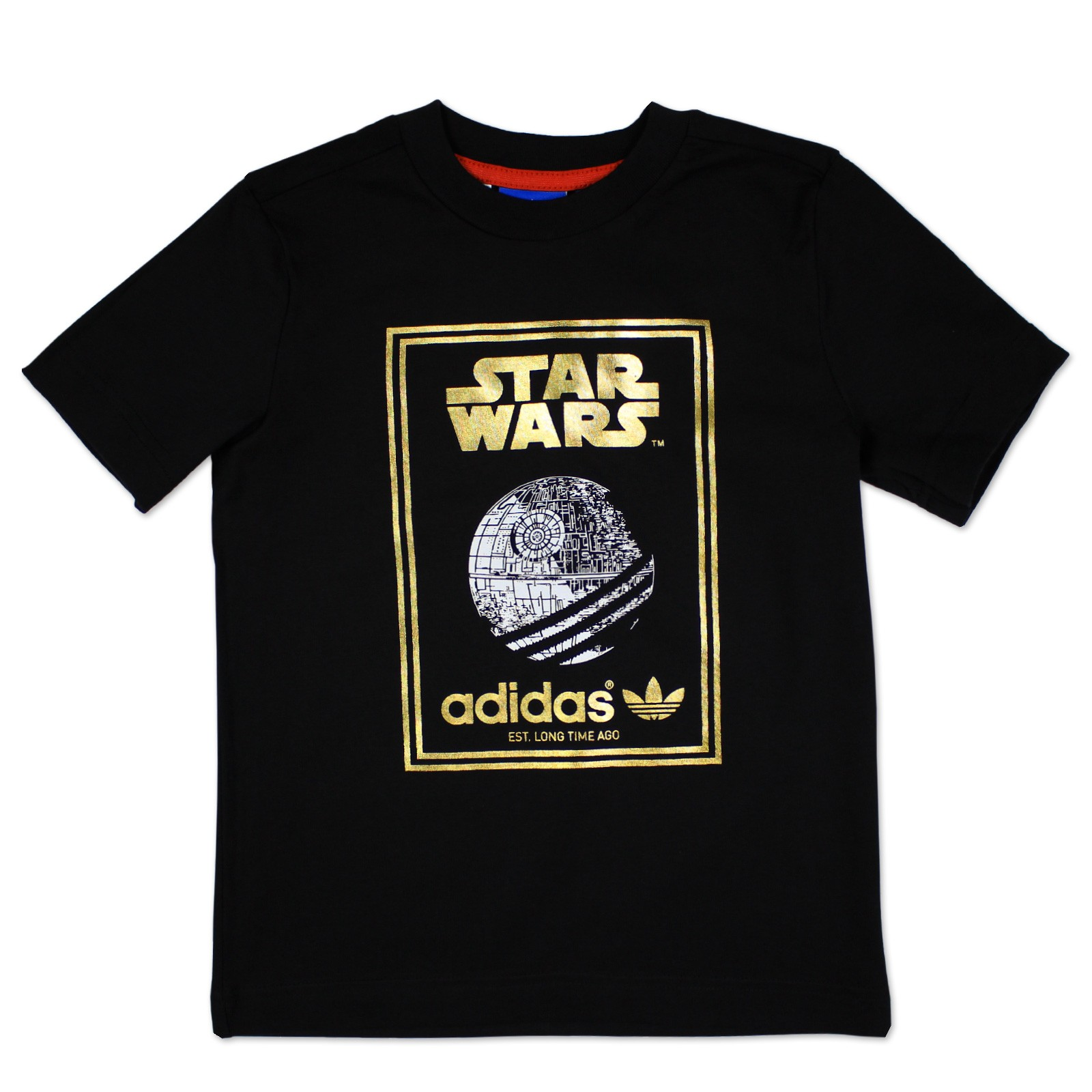adidas originals star wars enfants gar on tee shirt death t shirt noir dor 104 ebay. Black Bedroom Furniture Sets. Home Design Ideas