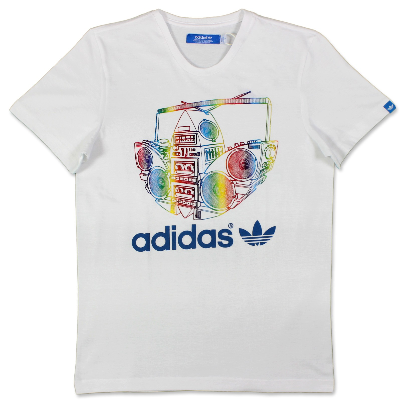 adidas originals boom trefoil party t shirt herren weiss. Black Bedroom Furniture Sets. Home Design Ideas
