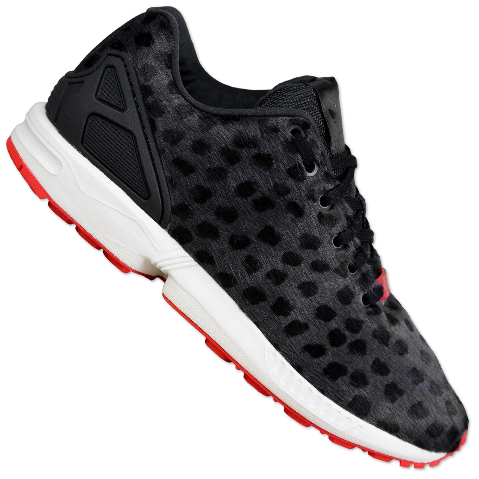 adidas originals zx flux trainers s79083 pony hair black. Black Bedroom Furniture Sets. Home Design Ideas