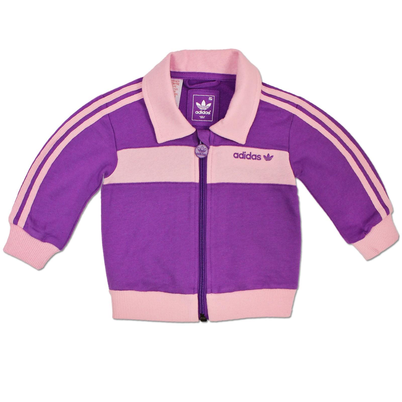 adidas originals beckenbauer kinder trainingsanzug set baby sport anzug lila kinder jogger. Black Bedroom Furniture Sets. Home Design Ideas