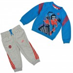 ADIDAS + MARVEL KINDER TRAININGSANZUG SPIDERMAN JOGGER JOGGINGANZUG SPINNE SET 001