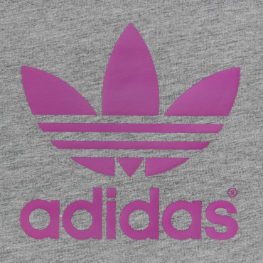 ADIDAS ORIGINALS Junior Trefoil Shirt - grau/lila – Bild 2