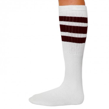 "SKATERSOCKS USA Tube Socks 22"" - weiß/braun – Bild 3"