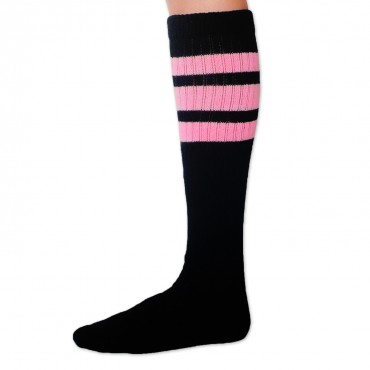 "SKATERSOCKS USA Tube Socks 22"" - schwarz/rosa – Bild 3"