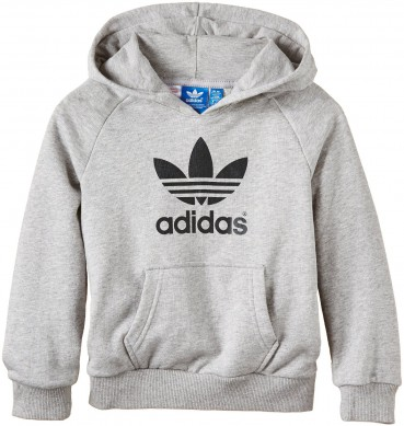 adidas originals trefoil hooded kinder sweatshirt hoodie kapuzenpullover grau ebay. Black Bedroom Furniture Sets. Home Design Ideas