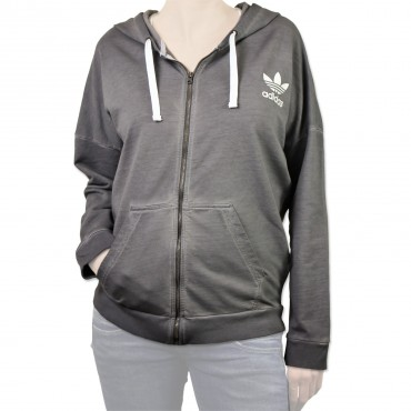 ADIDAS ORIGINALS Washed Crew Zip Jacke – Bild 2