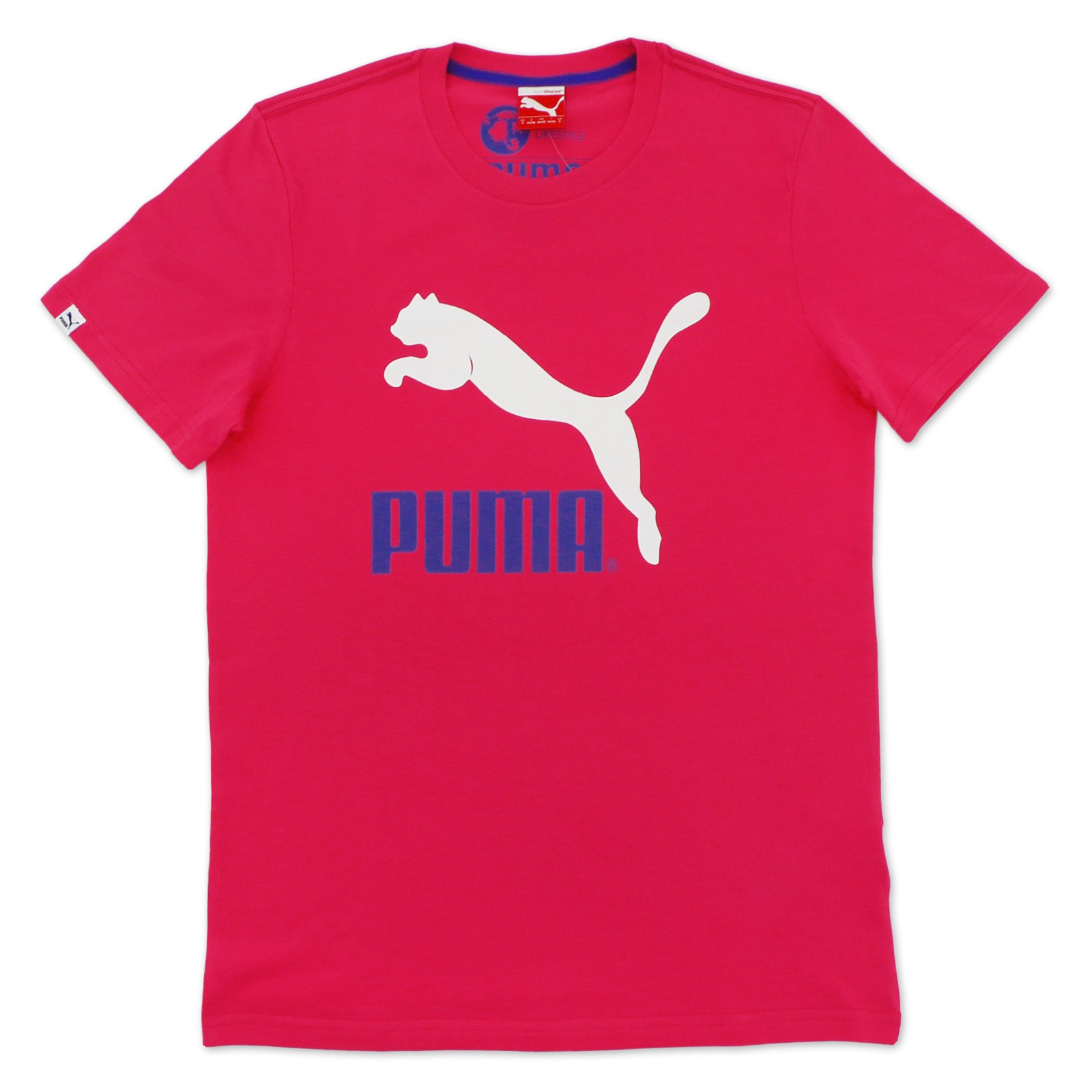 b68b1360dcd Details about Puma Originals Large Logo no.1 Tee Men's T-Shirt Pink Leisure  & Sports S-XXL